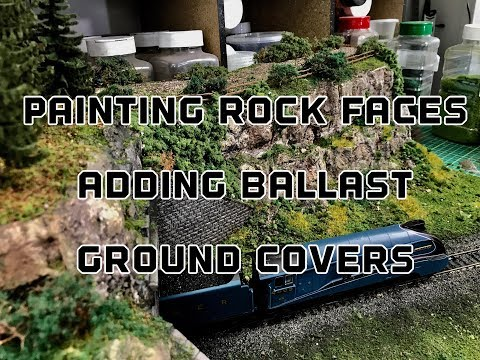 Building A Model Railway Part 3 : How To Paint Realistic Rock Faces Adding Ballast