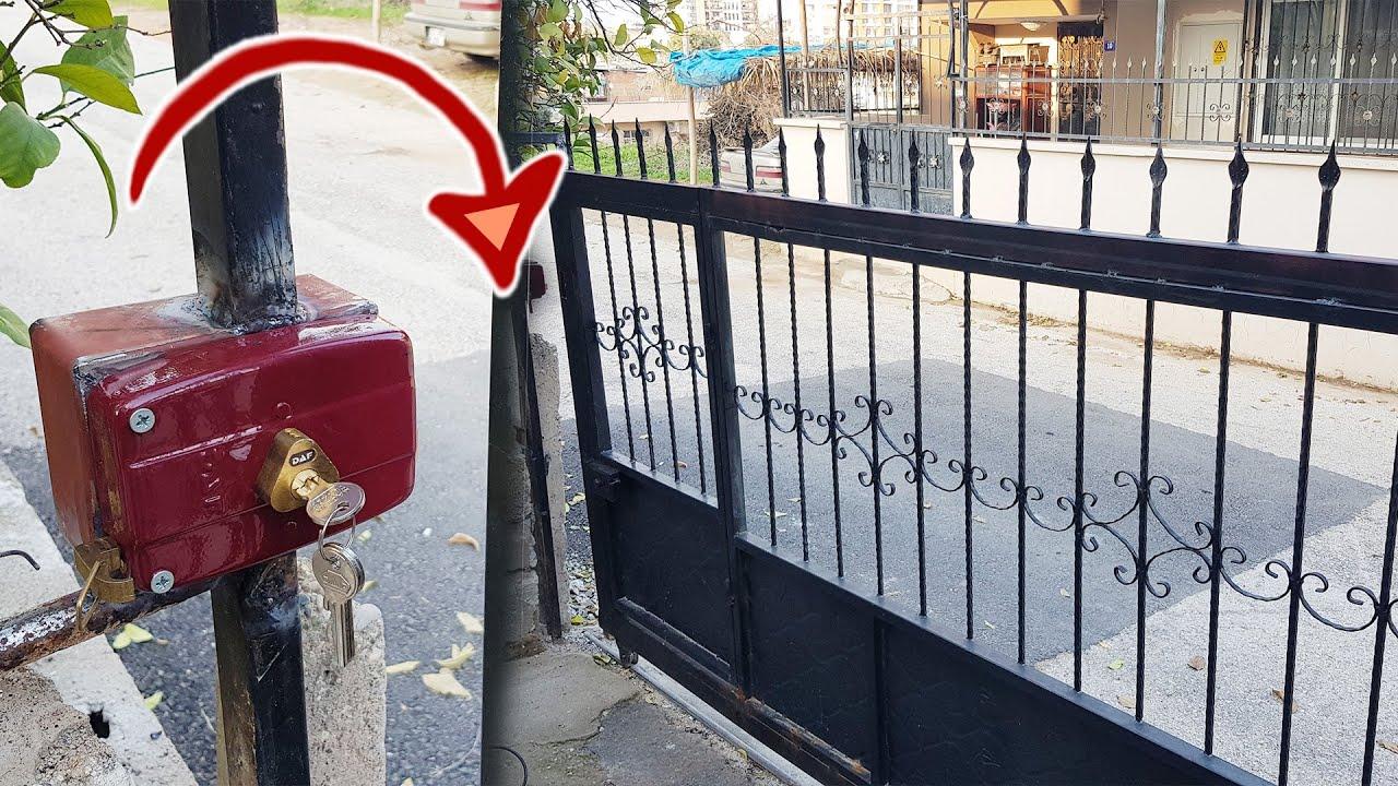 Bahçe Kapısı Tamiri // Sürgülü Bahçe Kapısına Kilit Yapımı