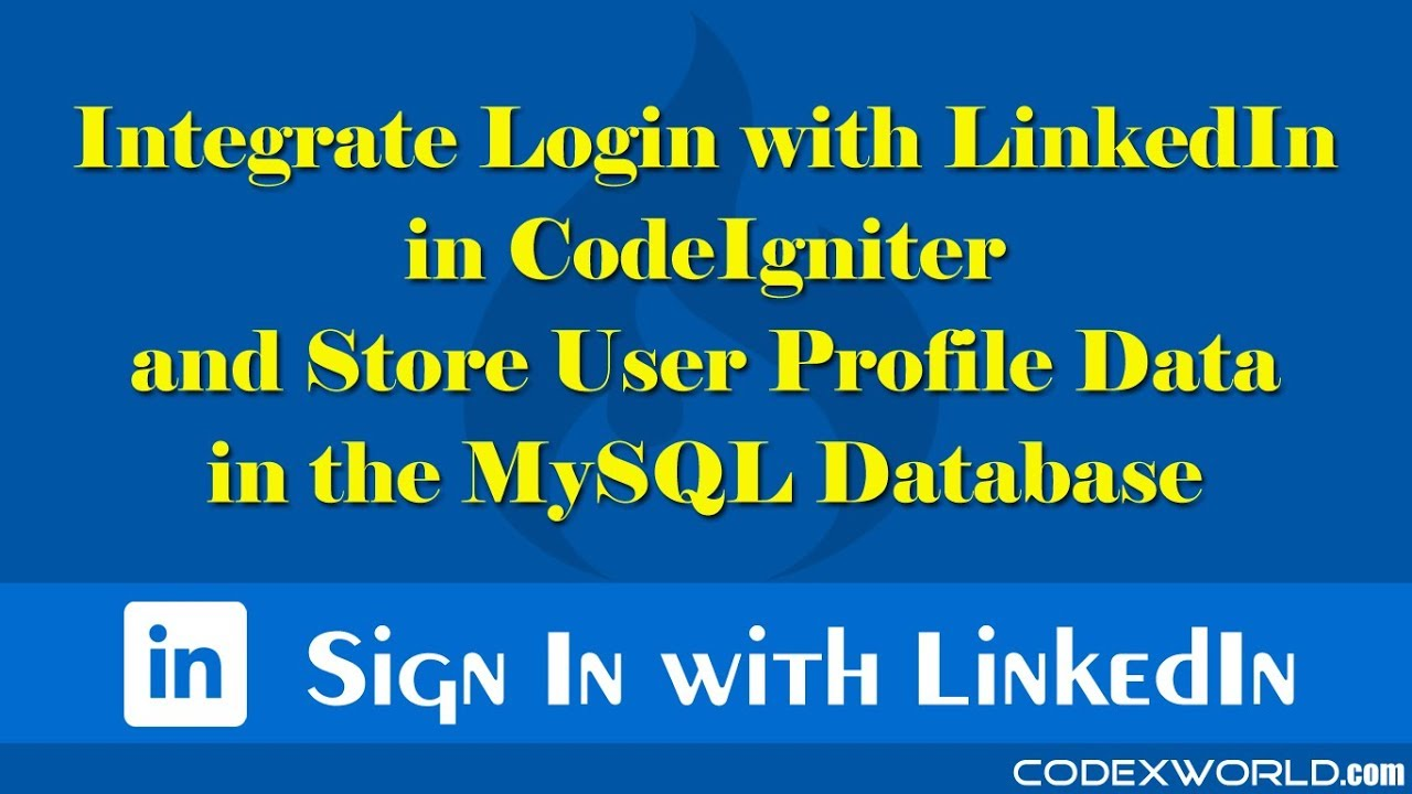 Login with LinkedIn in CodeIgniter - CodexWorld