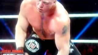 brock lesnar gets knocked out and f5s big show