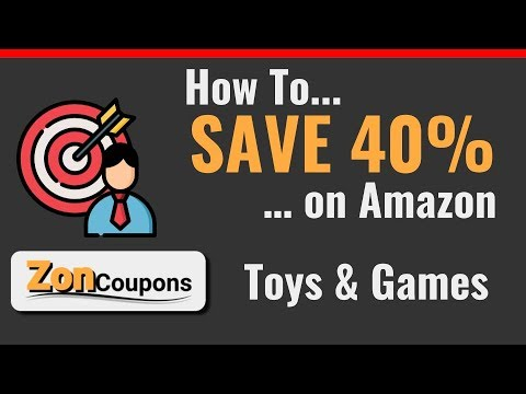 How to... SAVE 40% on Amazon Toys and Games using the ZonCoupons DealHunter