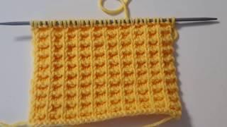 Простой красивый узор спицами Вафельный узор/ Уроки вязания / Мастер-класс