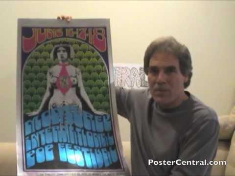 Monterey Pop Festival 1967 Concert Poster on Silver Foil
