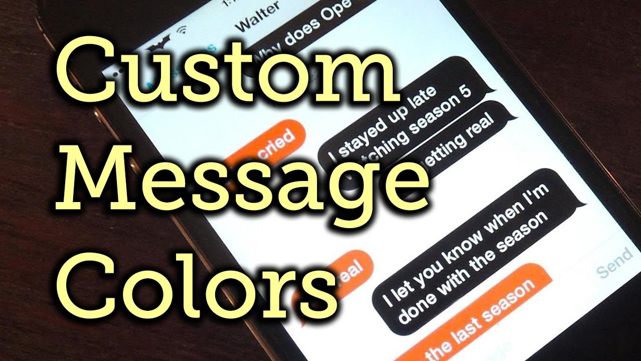 How to change the color of your text messages on iphone xr