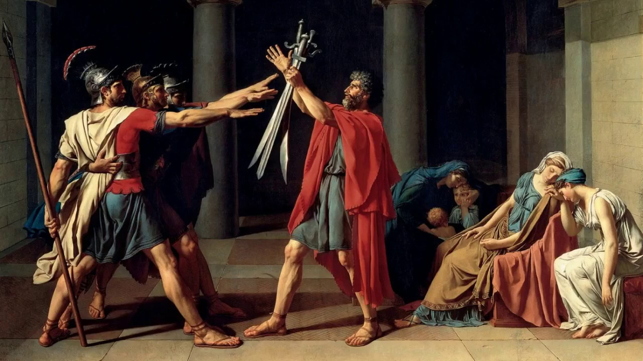 Jacques-Louis David – The Oath of the Horatii (1784) - YouTube Oath Of The Horatii