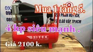 Máy nén khí bơm hơi  BTEC 4hp giá khá tốt cho thợ xài /Máy Xây Dựng Thái Bảo