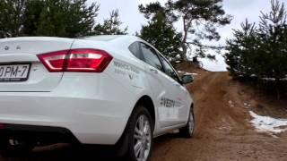 Lada Vesta: подъем на холм - с электроникой или без?