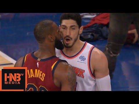LeBron James & Enes Kanter  Scirmish  Cavaliers vs Knicks
