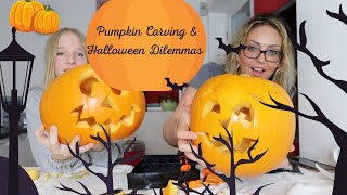 PUMPKIN CARVING + HALLOWEEN DILEMMAS - Tanya Louise