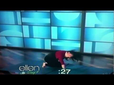 Natalie Padilla  Back flip fail on Ellen TV