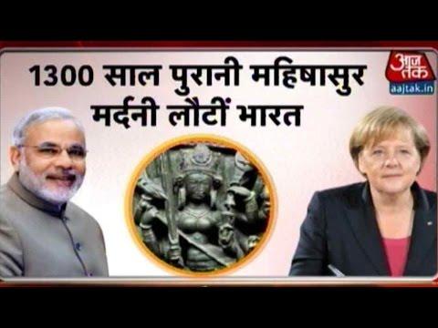 Angela Merkel Returns India's 10th Century Durga Idol To Narendra Modi