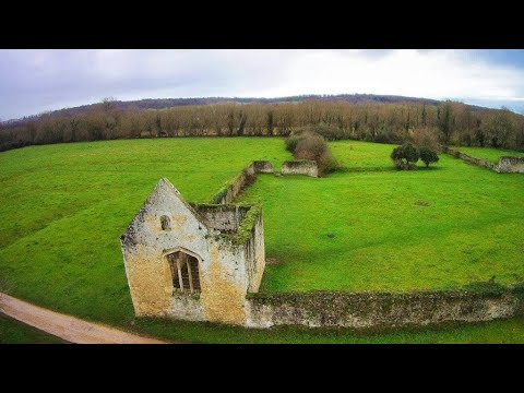 Godstow Abbey and lock. Port meadow, Oxford. Drone footage