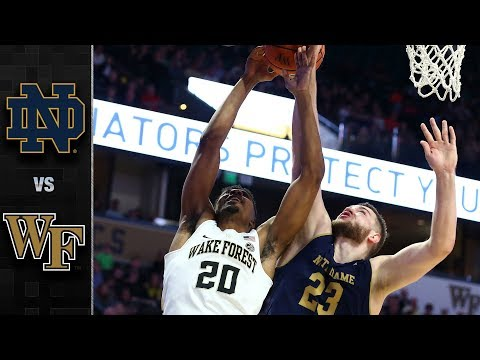 Notre Dame vs Wake Forest Basketball Highlights 201718