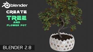 bLENDER 2.8 как сделать дерево