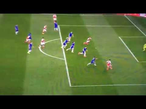 THEO WALCOTT GOAL - Arsenal 2-0 Chelsea - Arsenal vs Chelsea