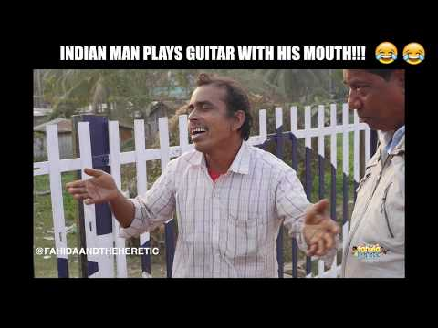 INDIAN MAN PLAYS GUITAR WITH HIS MOUTH!