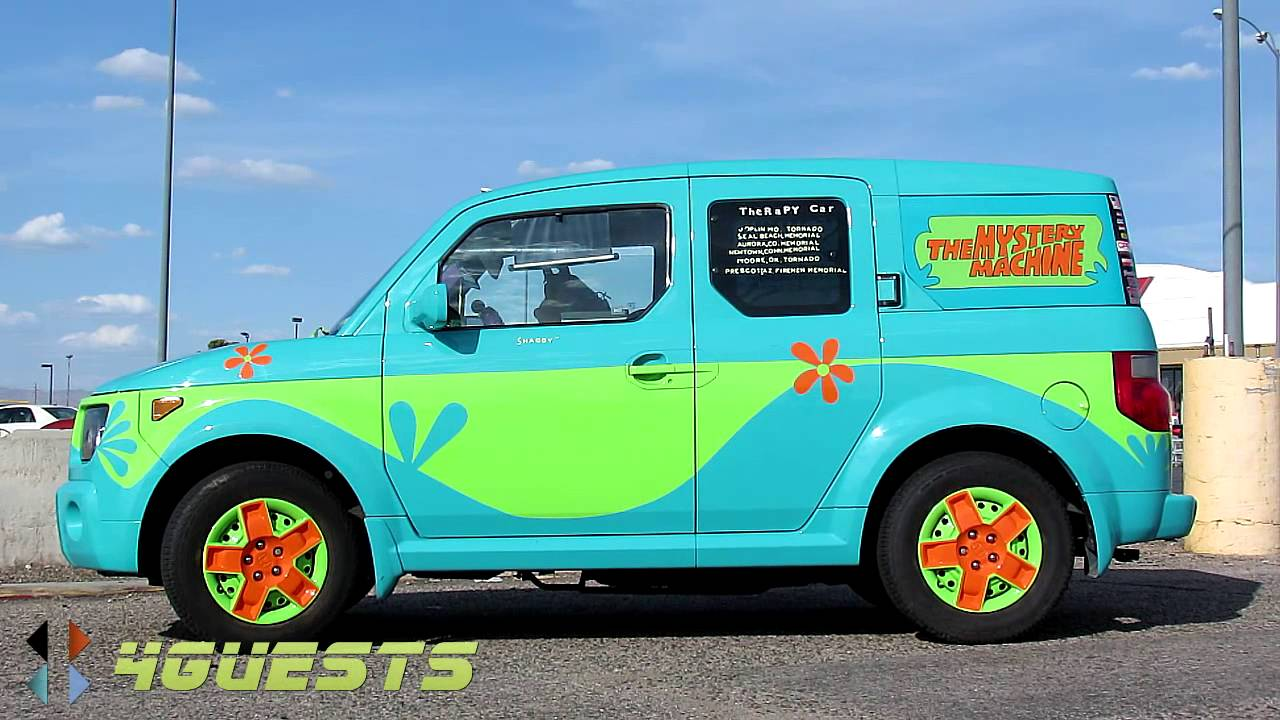 Mystery Machine Scooby Doo Honda Therapy Car Youtube