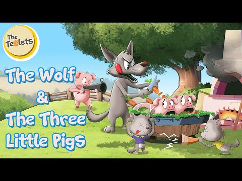 The Wolf And The Three Little Pigs I Big Bad Wolf I Three Little Pigs Musical Story I The Teolets