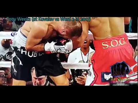 Footage of Andre Ward's Low Blow that won him the Fight  WOW !!!