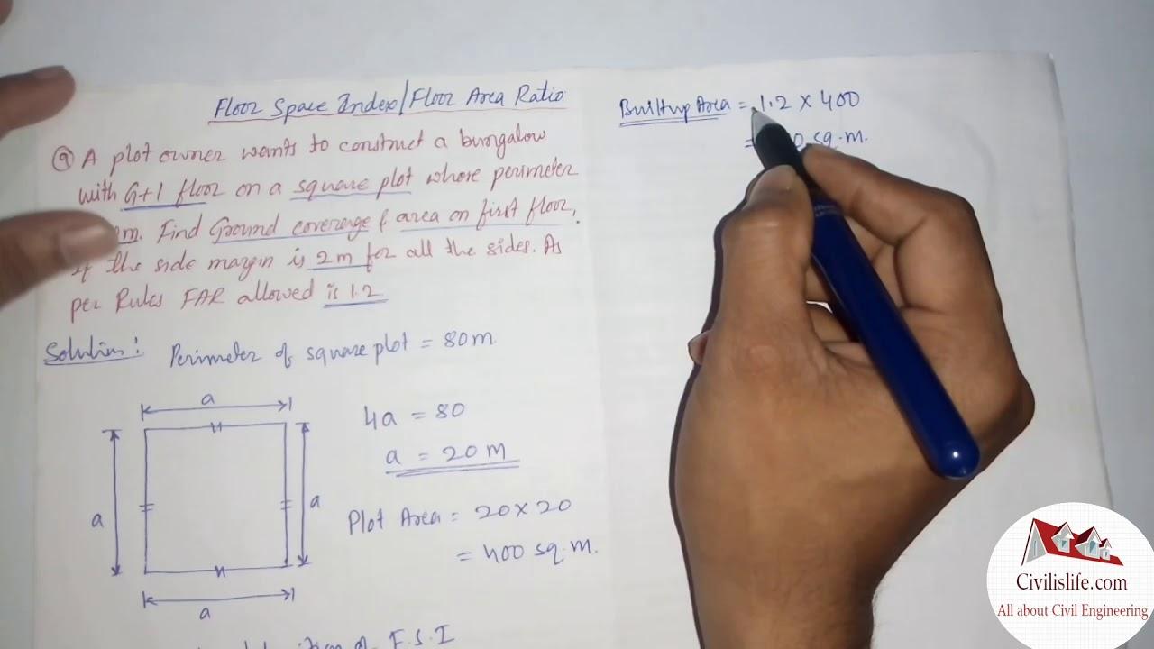 Floor Space Index Fsi Floor Area Ratio Far Problem 9 Youtube