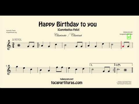 Happy Birthday Sheet Music for Clarinet