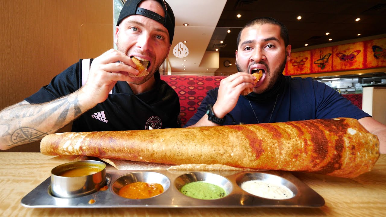 Download Eating INDIAN FOOD for 24 HOURS in EDISON!! Dosas, Pani Puri & Falooda | New Jersey