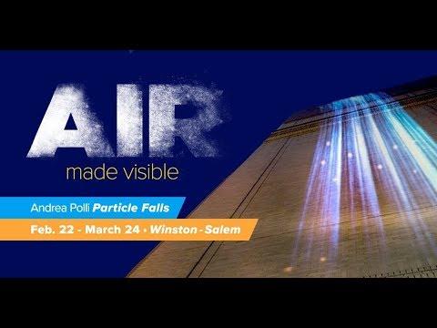 Particle Falls by Andrea Polli: Winston-Salem, NC (2018)