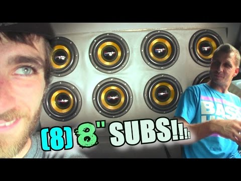 """8"""" Subs CAN PLAY LOW BASS!? Jay's American Bass VFL Install W/ Eight Inch Subwoofers Smashing FLEX"""