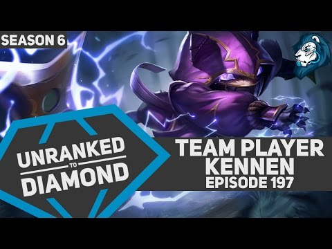 Team Player KENNEN - Unranked to Diamond - Episode 197 (Riot Point Giveaway)
