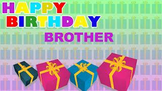 Brother - Card Tarjeta_712 - Happy Birthday