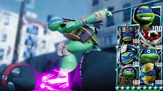 Teenage Mutant Ninja Turtles: Legends - ALL LEONARDO VS FOOT CLAN. Best Battles #TMNT 2012 game