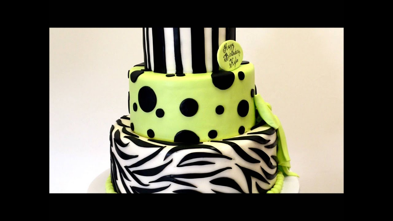 Zebra Theme Cake Zebra Birthday Cake Zebra Cake Ideas Youtube