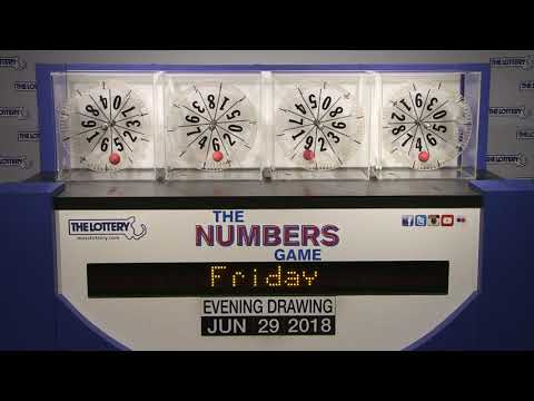 Evening Numbers Game Drawing: Friday, June 29, 2018 - YouTube
