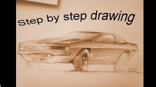 How to draw Plymouth Barracuda