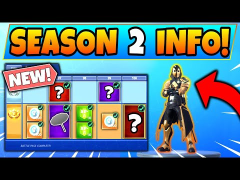 Fortnite SEASON 2 BATTLE PASS INFO REVEALED! 7 Details We Know! (Battle Royale Skins And Leaks)