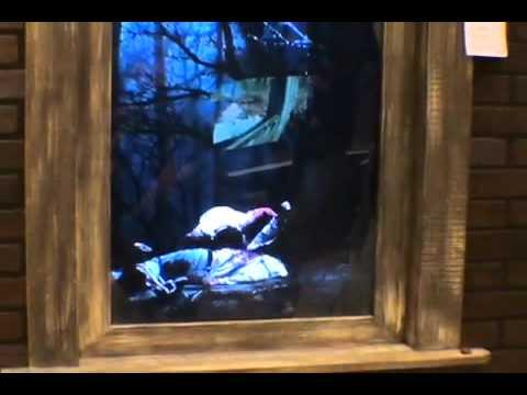 zombie attack window halloween haunted house prop youtube
