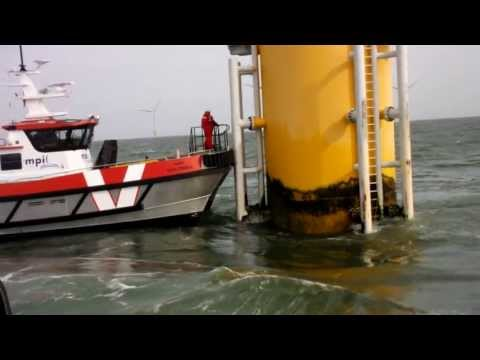 MPI Dulcinea transfers technicians off D4 at Sheringham Shoal Offshore Wind Farm