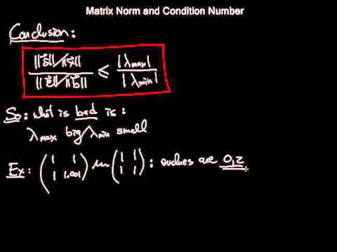 matrix norm and condition number