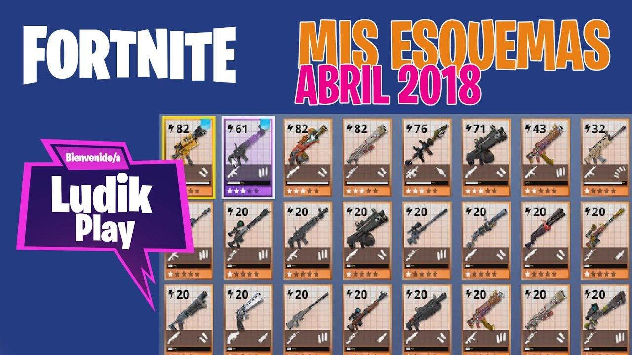 MIS ESQUEMAS DE ARMAS Y TRAMPAS - ABRIL | FORNITE SALVAR EL MUNDO | Gameplay español