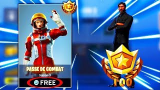 SEE THE PASS OF COMBAT PALIER 100 FREE on FORTNITE !!!