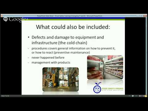 Food Safety Trainings - Emergency Preparedness and Response