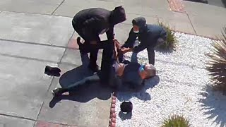 Video released of suspects robbing Asian man in San Leandro