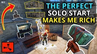 THIS PERFECT RUST SOLO START MADE ME RICH! - RUST SOLO Part 1