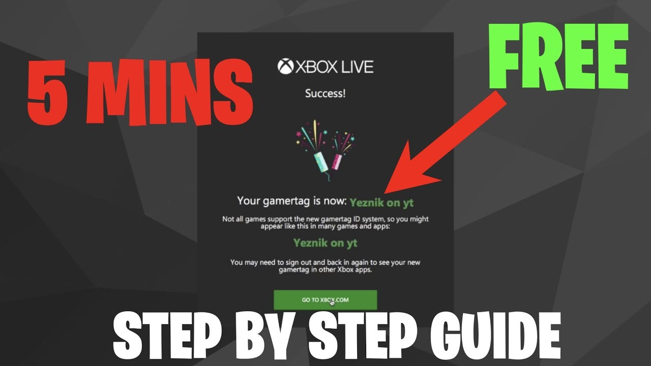 HOW TO CHANGE XBOX GAMERTAG / FORTNITE USERNAME FOR FREE ...