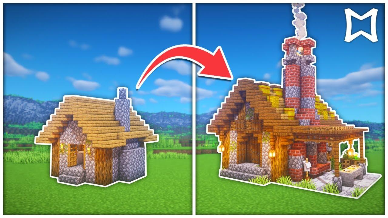 Minecraft Tutorial ► Armorer Village House Transformation  How To Build In  Minecraft