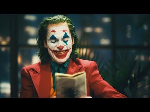 Joker tells a funny joke