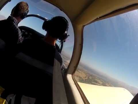 My first flight in a two person plane (Grumman)