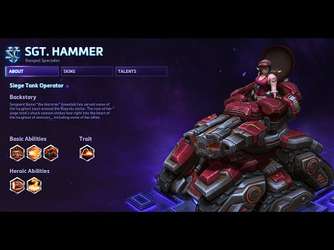 Heroes of the Storm - Sgt. Hammer Guide