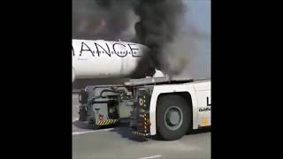 Lufthansa A340 fire incident at Frankfurt
