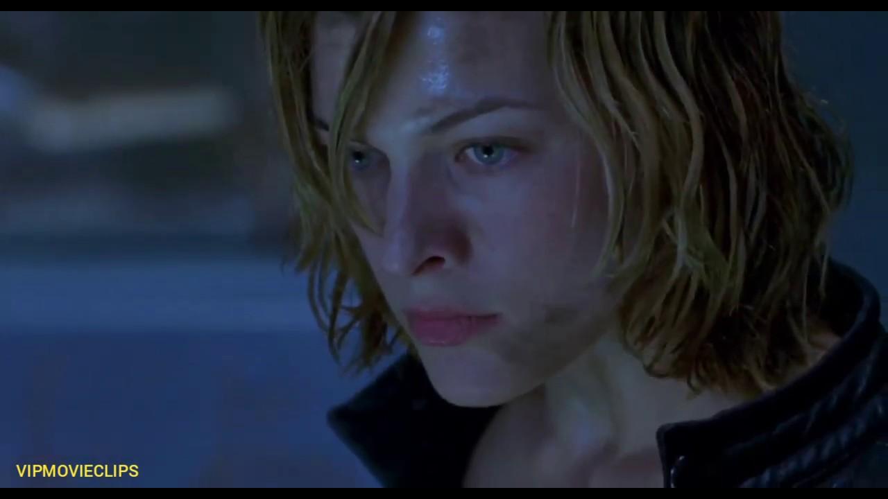 Alice Kills Zombie Dogs Scene Resident Evil 2002 Movieclip